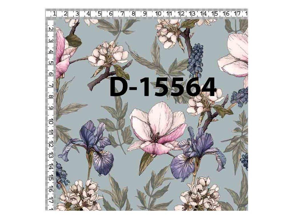 Y135 kreslené květy
