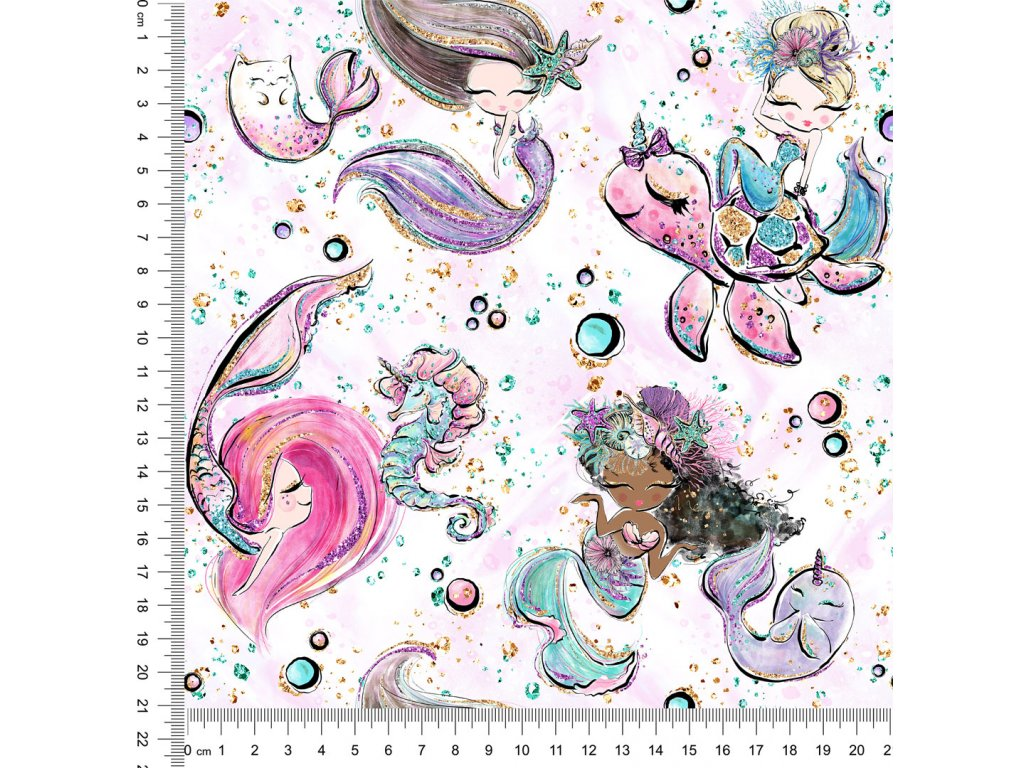Y442 mořské panny se zvířátky