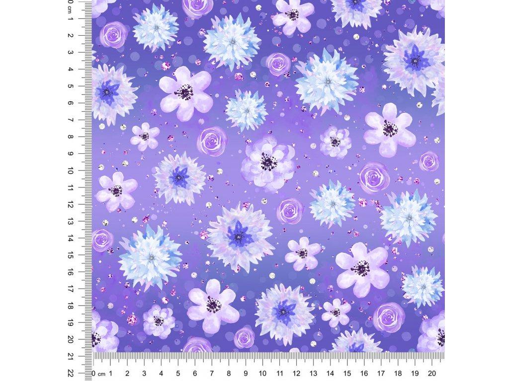 Y470 květy v fialkovém podkladu