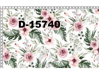 Y102 růžové květy