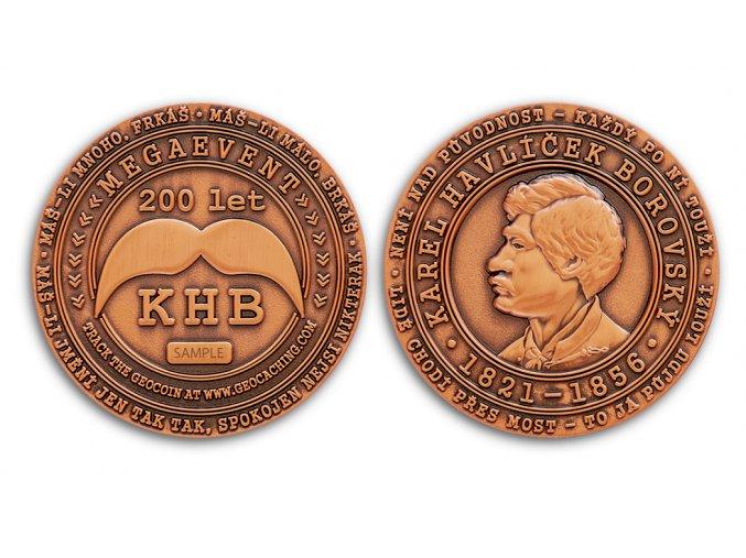 KHB200 Geocoin Antique Copper