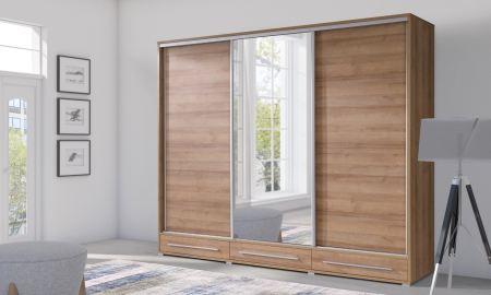 Šatní skříně HAIFA s posuvnými dveřmi