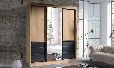 Šatní skříně HAITI s posuvnými dveřmi