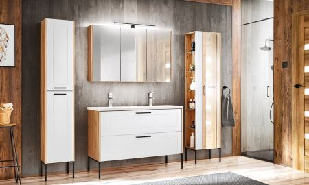 Koupelna ze systému MADERA white