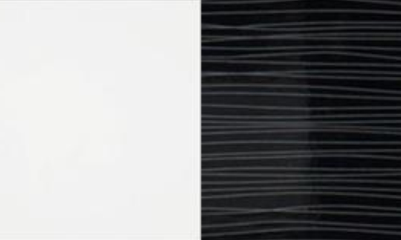 bílá/černá pruhovaná