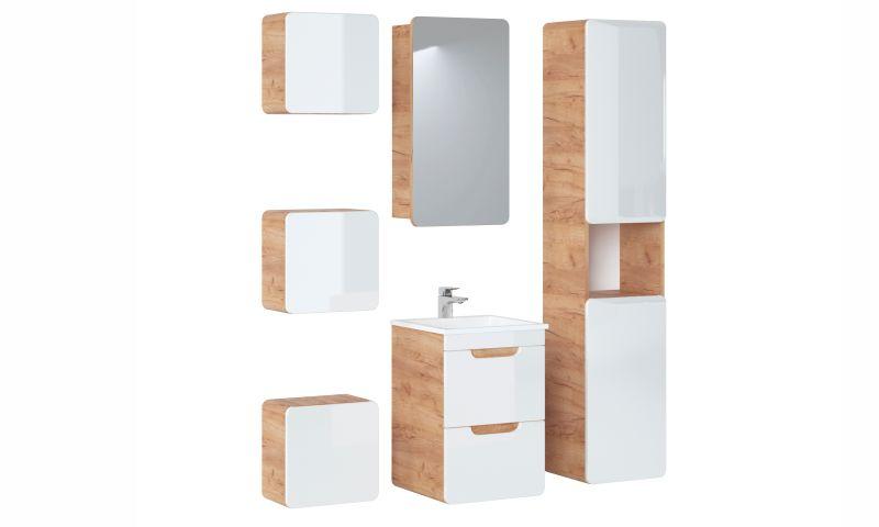 Závěsná skříňka se zrcadlem - ARUBA 842
