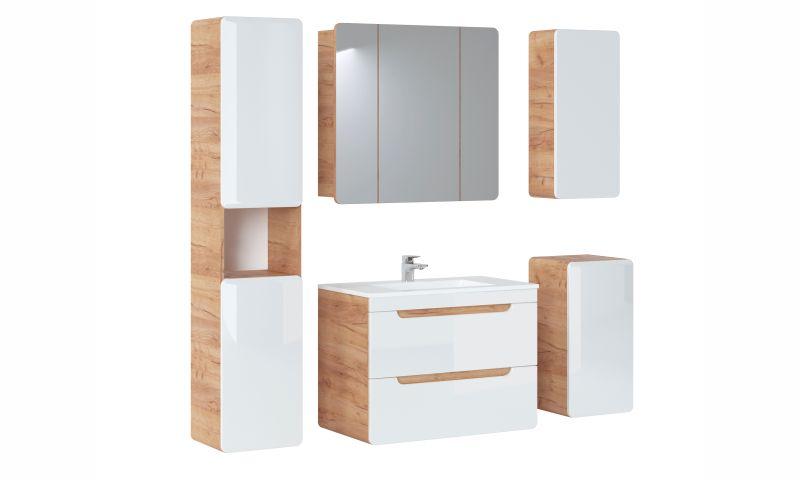Závěsná skříňka se zrcadlem - ARUBA 843