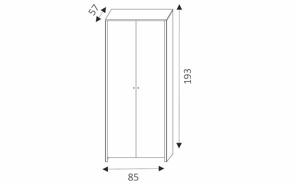 Šatní skříň - BERG 1 rozměry