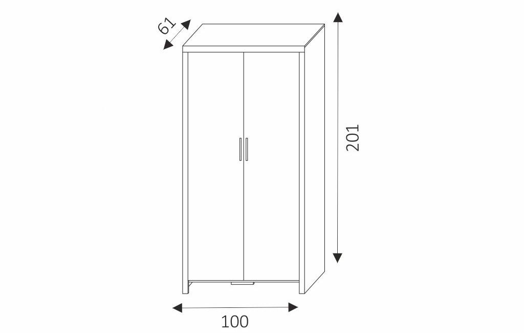 Šatní skříň - CEZAR 2 rozměry
