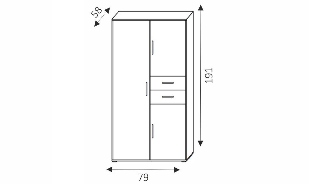 Šatní skříň - NEMO 2 rozměry