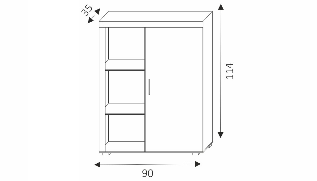 Skříňka - SAMBA 3 rozměry