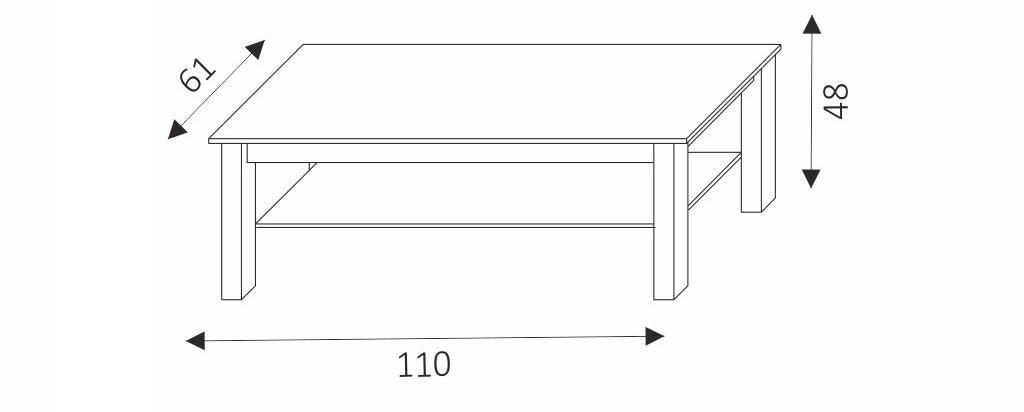 Konferenční stolek - SAMBA 9 rozměry