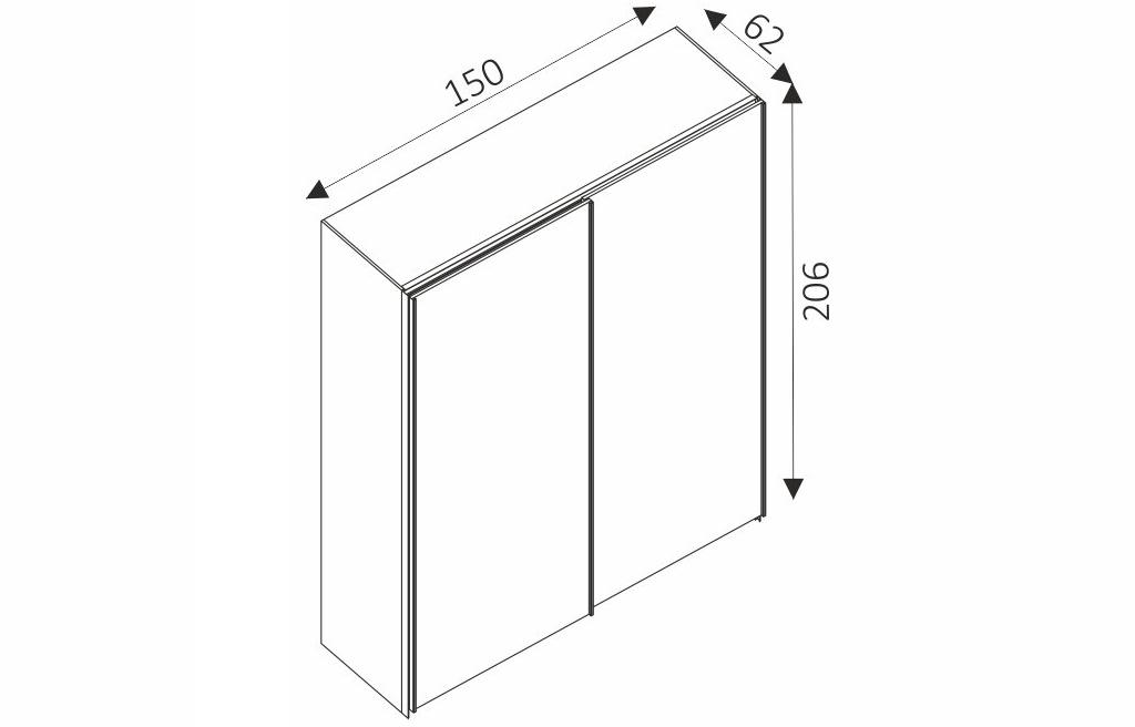 Šatní skříň - BATUMI 1 rozměry