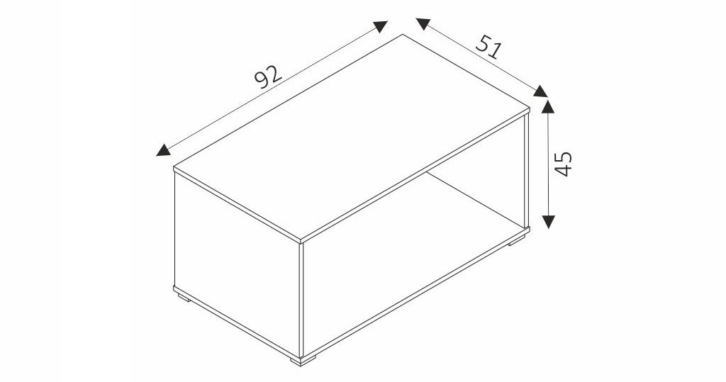 Konferenční stolek - COSMO C10 rozměry
