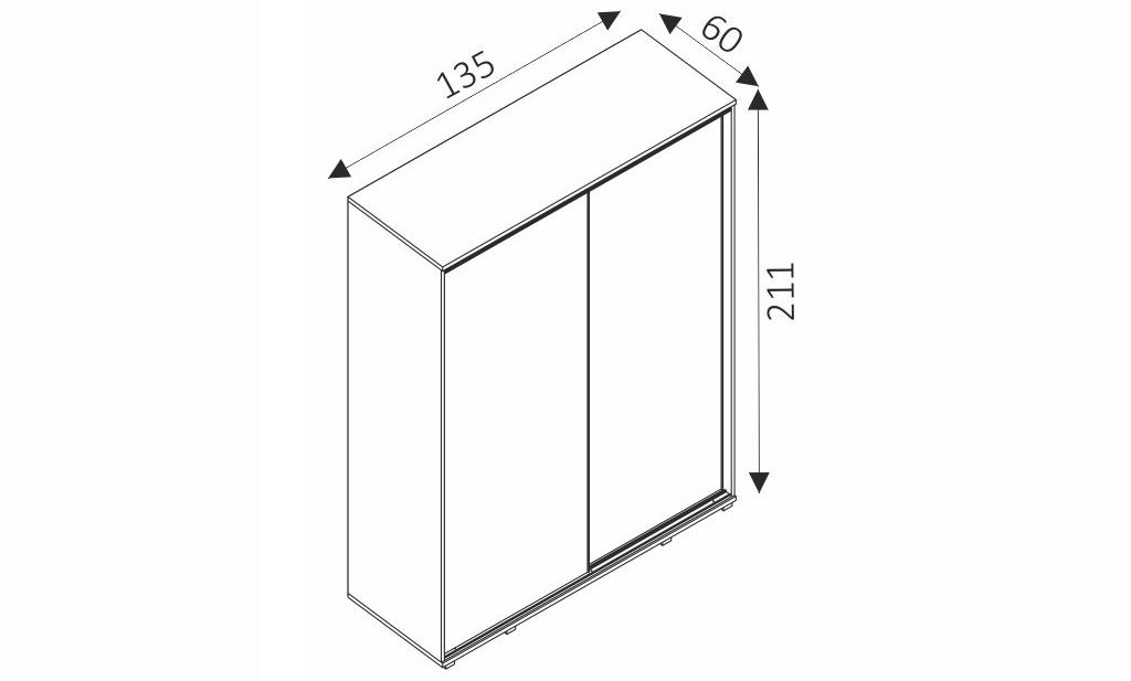 Šatní skříň - FIFI rozměry