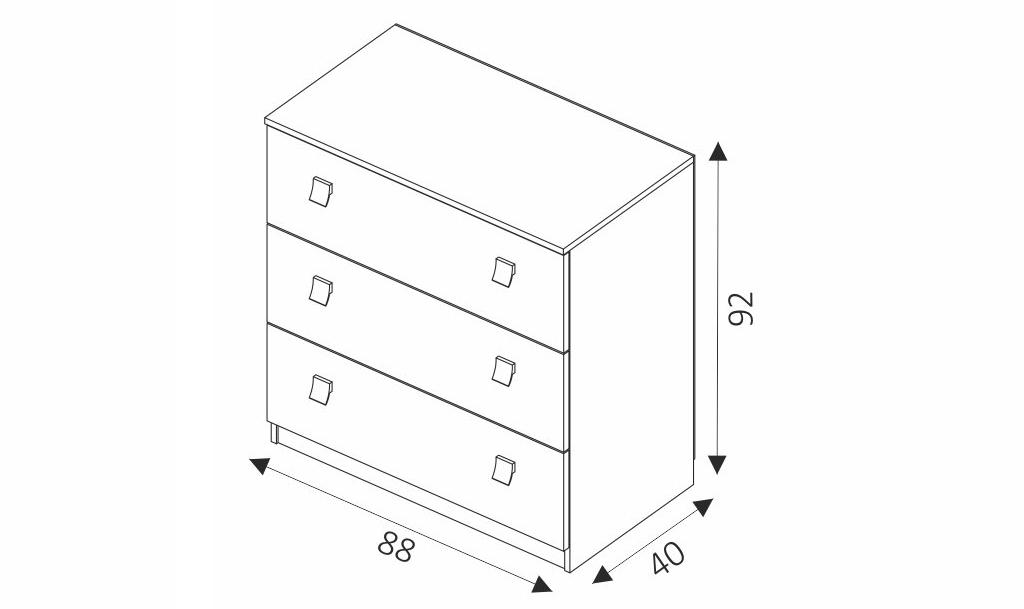 Komoda - LUX rozměry