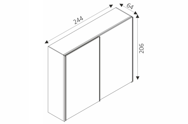 Šatní skříň - LUX 11 rozměry