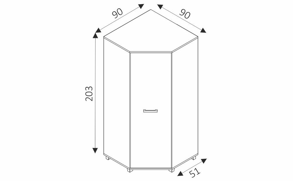 Šatní skříň - MAXIMUS M34 rozměry