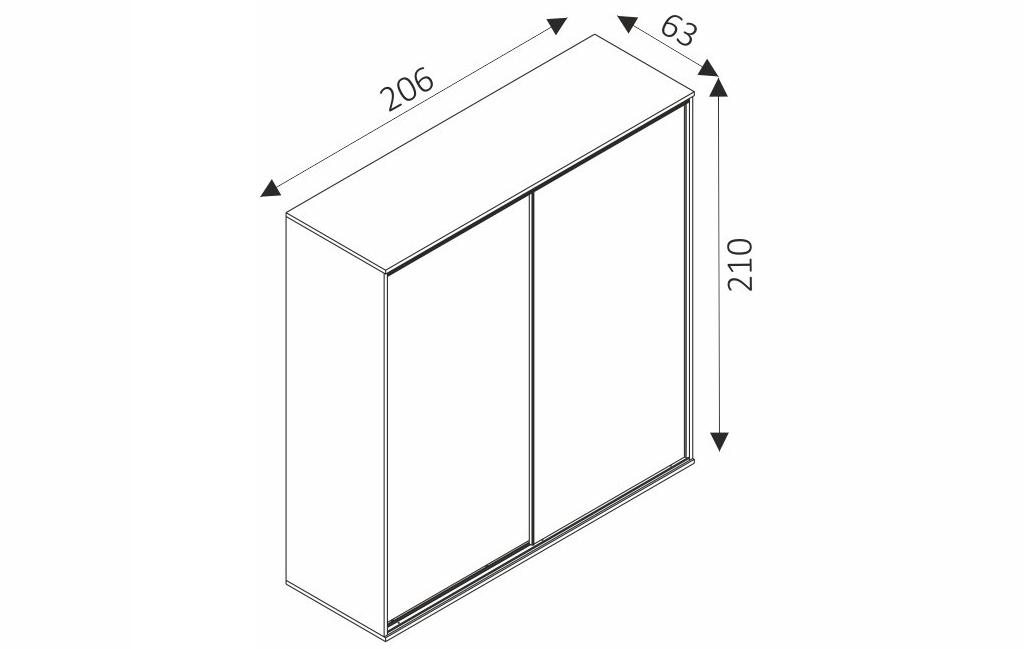 Šatní skříň - ZONDA Z19 rozměry