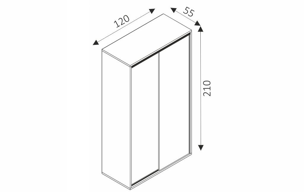 Šatní skříň - ZONDA Z10 rozměry