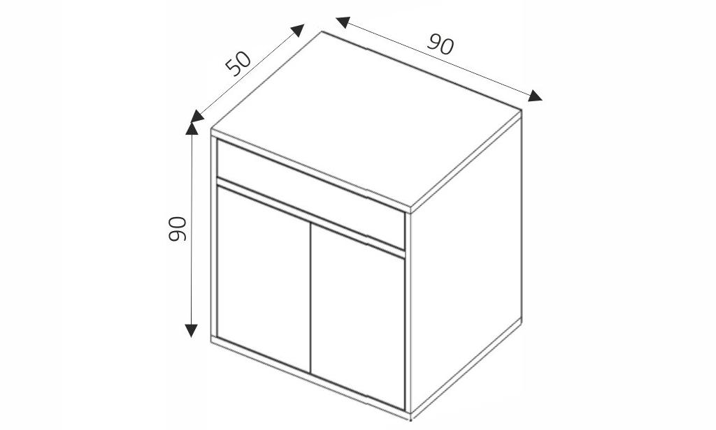 Komoda - ZONDA Z4 rozměry