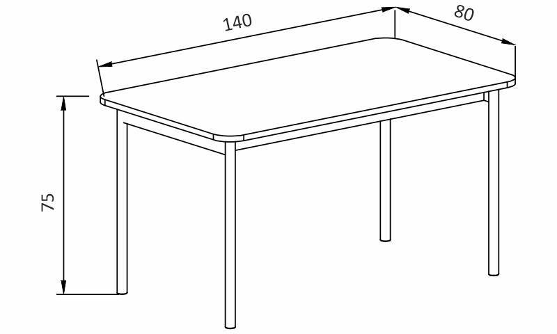 Jídelní stůl - BASIC BL140