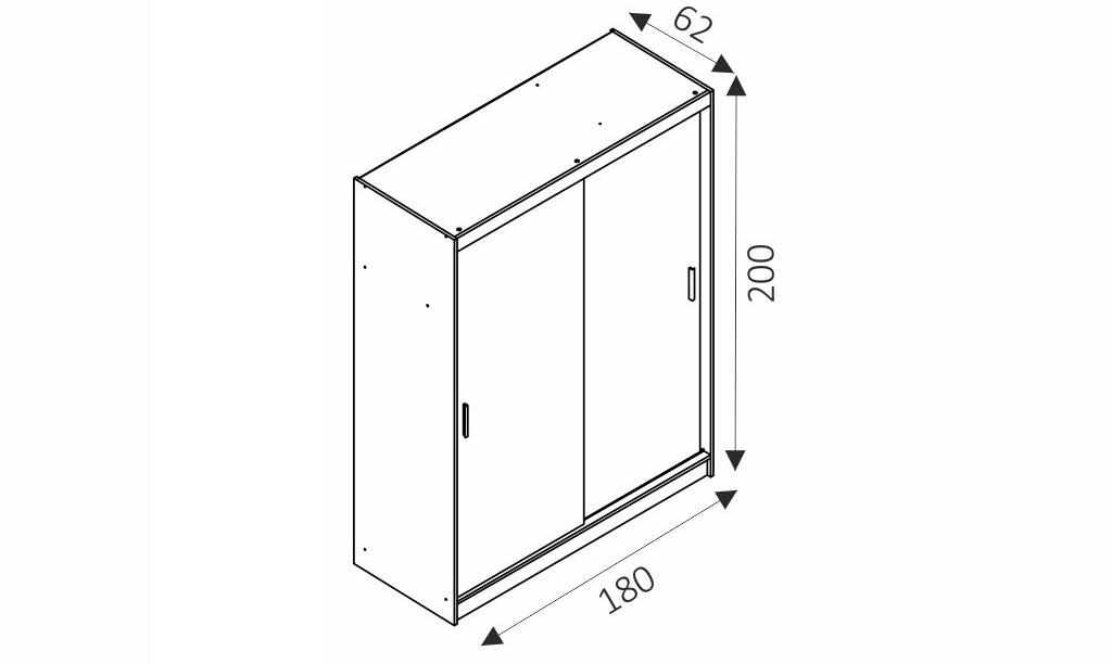 Šatní skříň - WIKI 9/180 rozměry