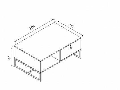 Konferenční stolek - DARK DL104