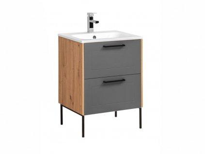 Stojatá skříňka pod umyvadlo - MADERA 820+881 grey
