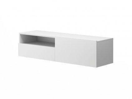 Závěsná skříňka pod TV - ENJOY ERTVSZ120, bílá
