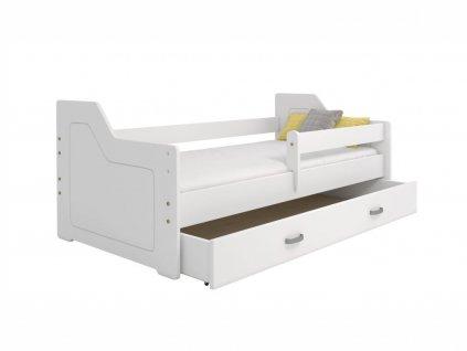 Dětská postel - MIKI B4, 80x160 cm, barva bílá, s roštem