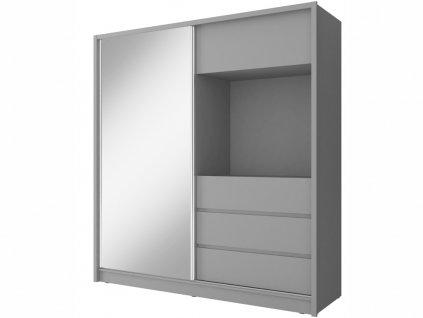 Šatní skříň - TV 200, grafit