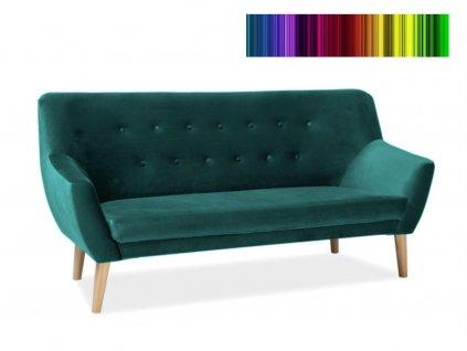 Pohovka - NORDIC 3 Velvet, čalouněná, různé barvy na výběr