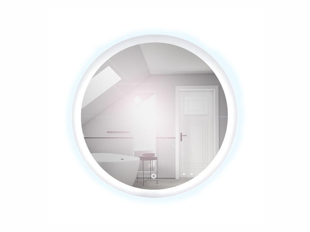 MAXIVA Koupelnové zrcadlo - SP10, průměr 60 cm, LED osvětlení