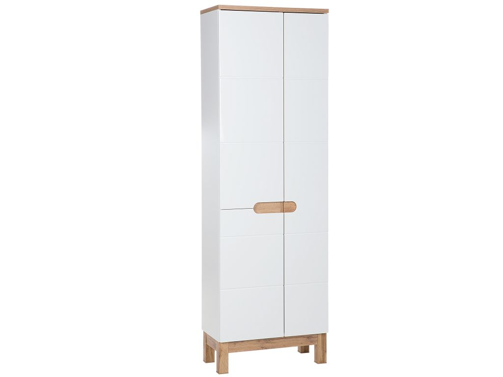 MAXIVA Vysoká stojatá skříňka - BALI 900 white, bílá/dub votan