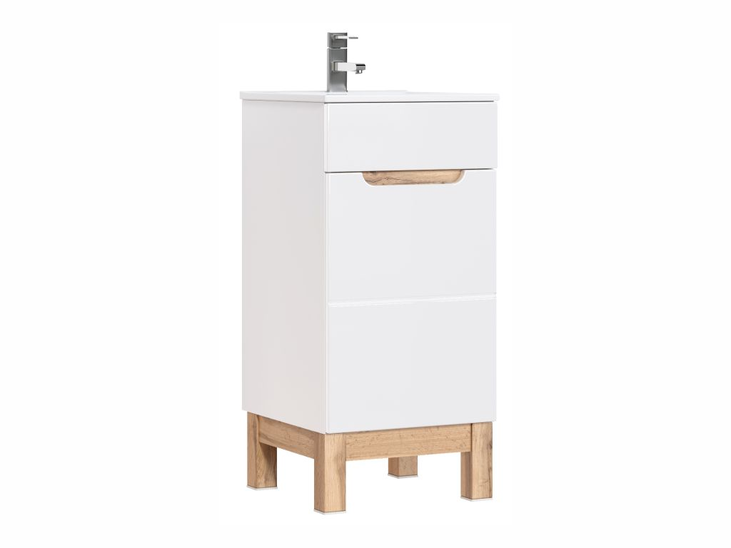 MAXIVA Stojatá skříňka pod umyvadlo - BALI 823 white, šířka 40 cm, bílá/dub votan