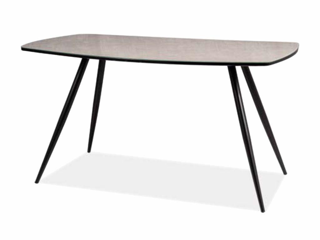 MAXIVA Jídelní stůl - SENSO, mramor/černá