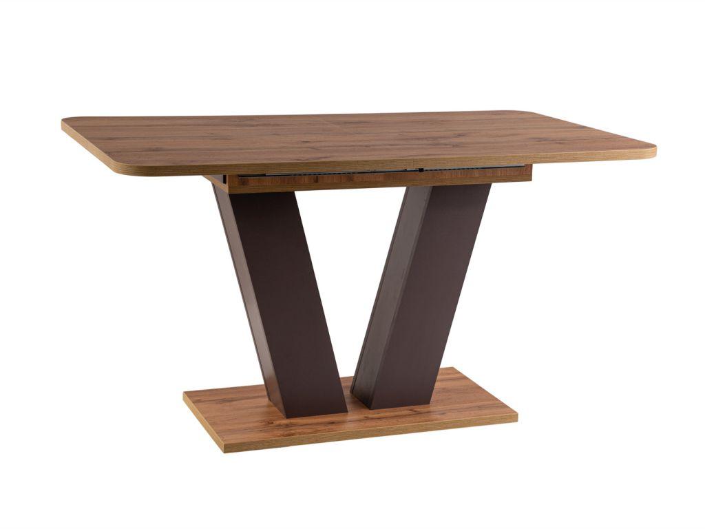MAXIVA Jídelní stůl rozkládací - PLATON, 136x80, dub votan