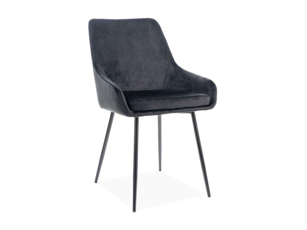 MAXIVA Jídelní židle - ALBI Velvet, nohy v černé barvě, různé barvy na výběr Čalounění: černá (tap.117)