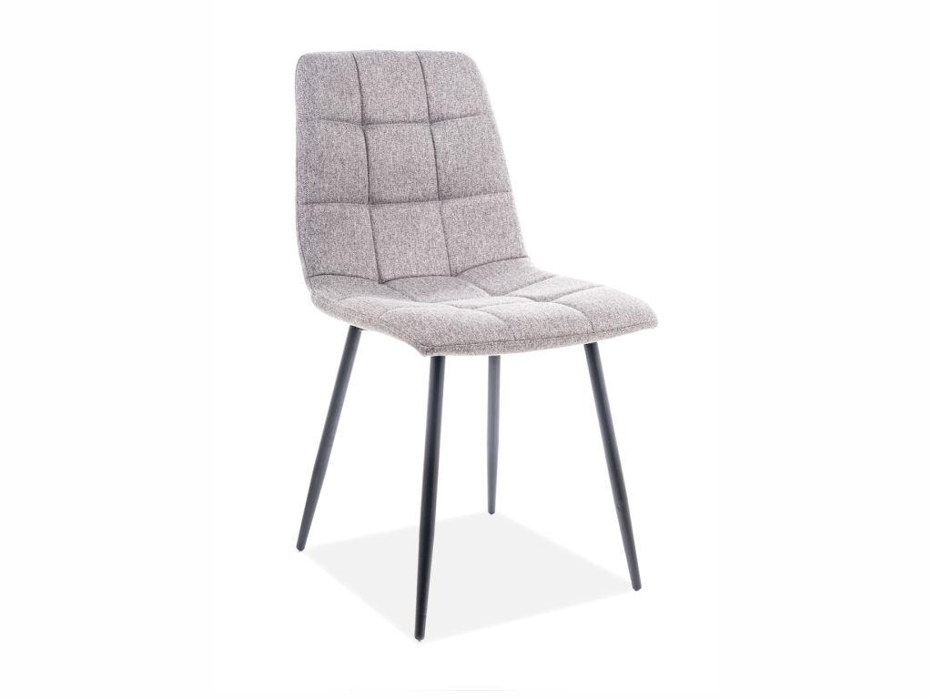 MAXIVA Jídelní židle - MILA, nohy v černé barvě, šedá tap.146