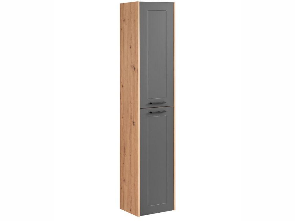 MAXIVA Vysoká závěsná skříňka - MADERA 800 grey, grafit/dub artisan