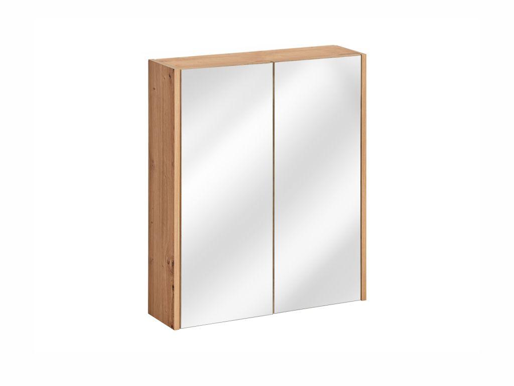 MAXIVA Závěsná skříňka se zrcadlem - MADERA 840, šířka 60 cm, dub artisan