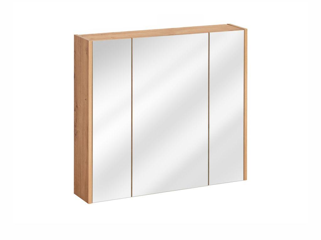 MAXIVA Závěsná skříňka se zrcadlem - MADERA 841, šířka 80 cm, dub artisan