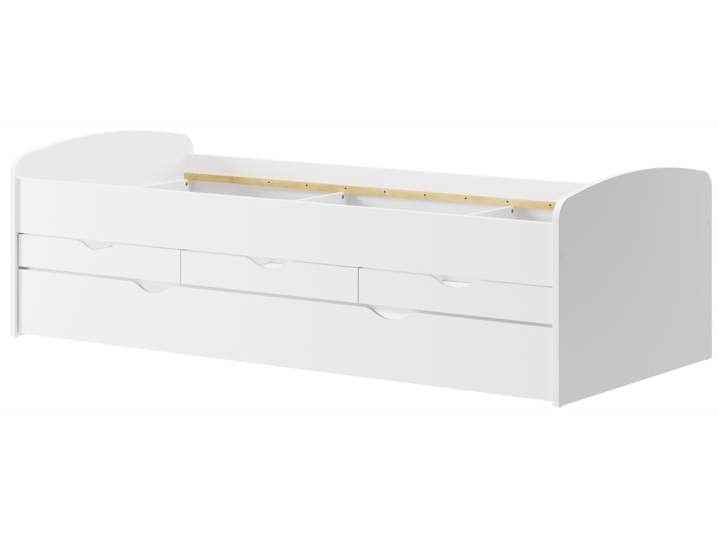 MAXIVA Dětská postýlka - NICOLE 01, 90x200 cm, bílá