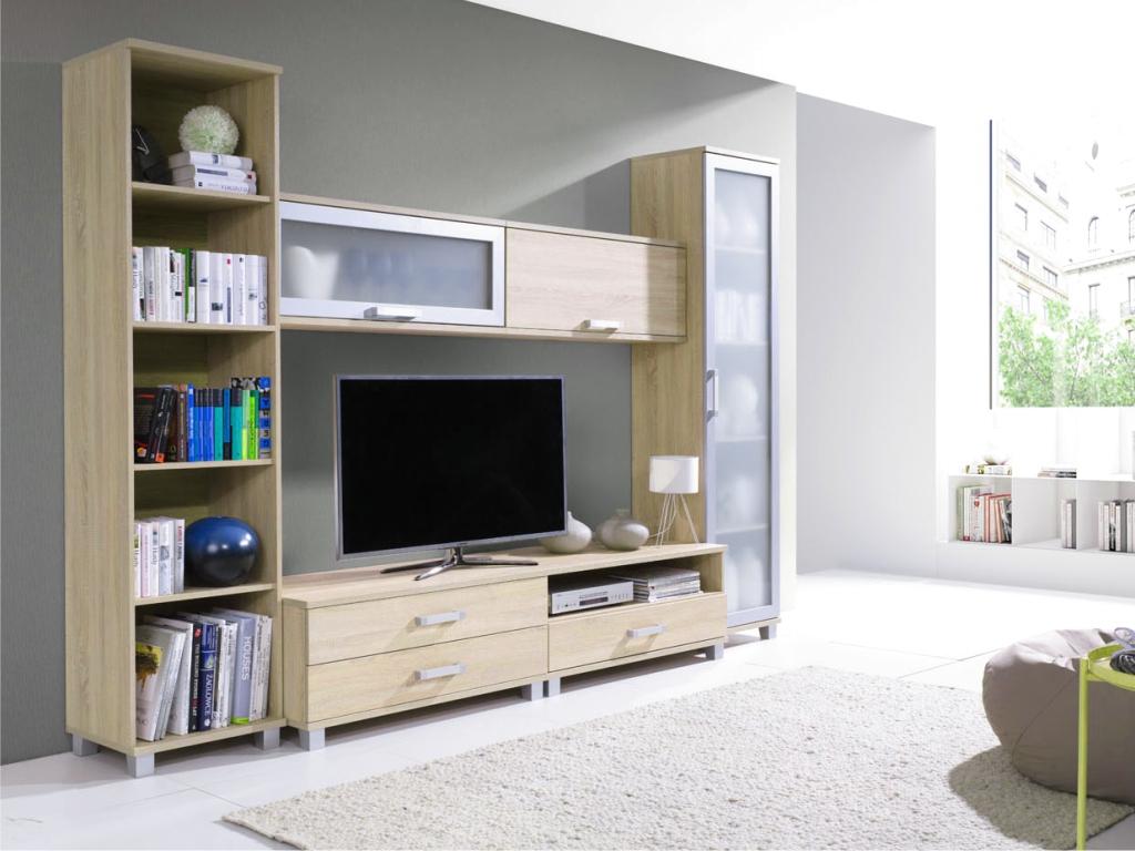 MAXIVA Obývací pokoj MAXIMUS, sestava č. 2, dub sonoma
