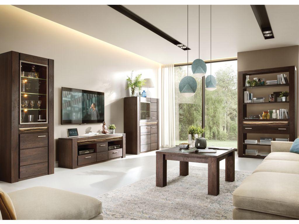 MAXIVA Obývací pokoj FLENSBURG, sestava č. 2, černý dub