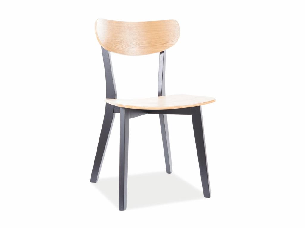MAXIVA Jídelní židle - TACOMA, dub/černá
