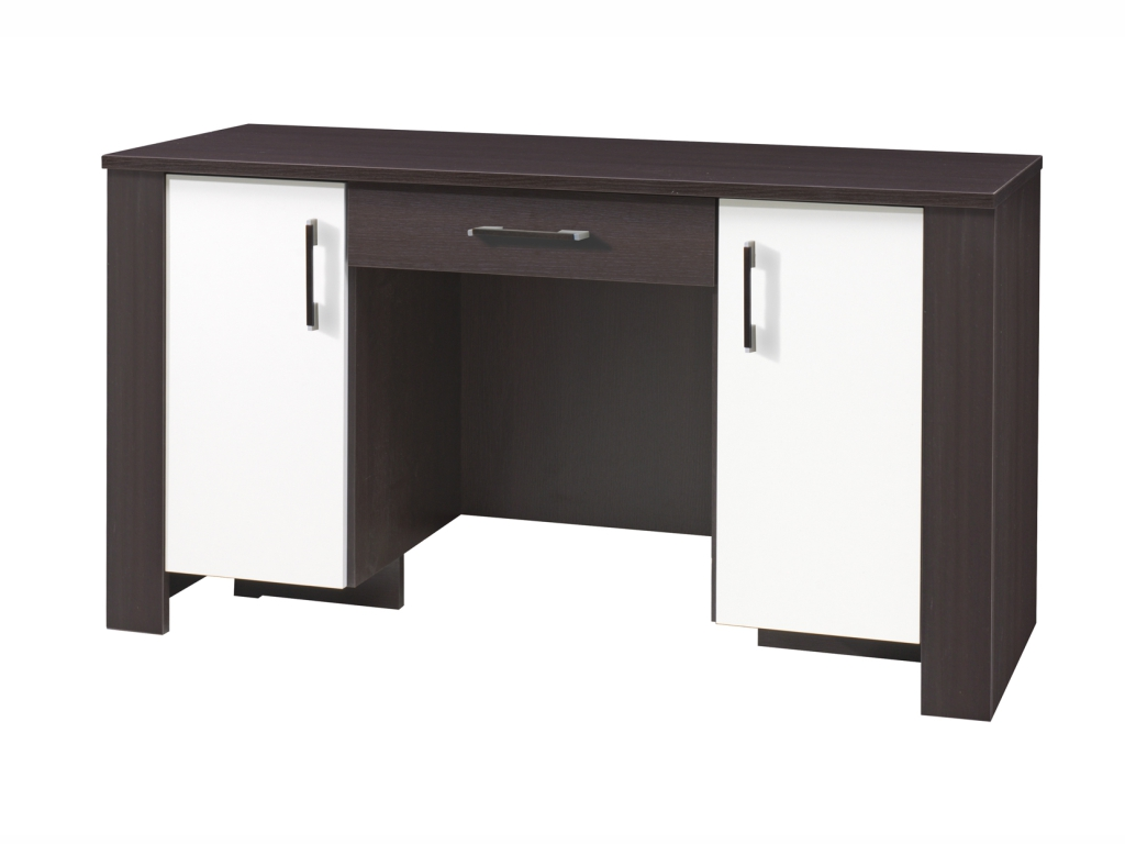 MAXIVA Psací stůl - CEZAR 17, dub milano/krém