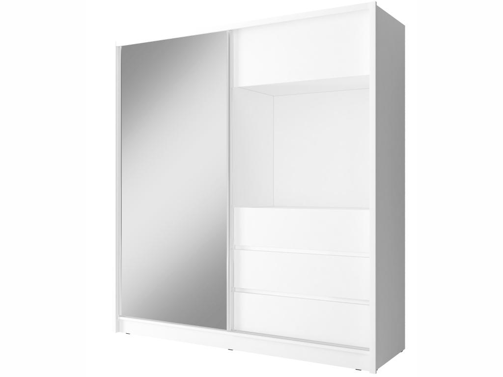 MAXIVA Šatní skříň - TV 200, bílá
