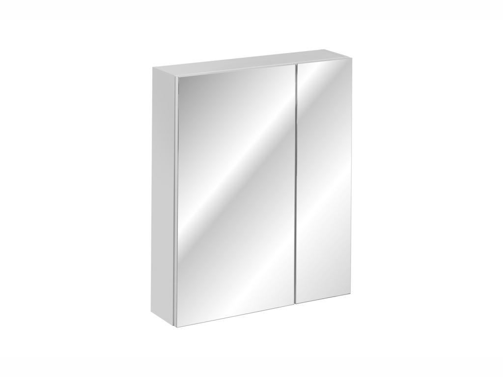 MAXIVA Závěsná skříňka se zrcadlem - HAVANA 84-60, šířka 60 cm, bílá